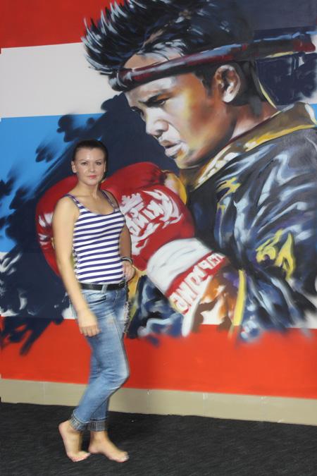 Юлия Лыткина. Тайский бокс для девушек в Омске