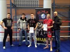 Серебряный призер межклубного турнира по муай тай Артер Гришин